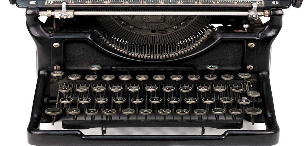 footer image - bottom of typewriter