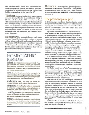 Not your Mother's Menopause - Natural Health 2009 - p7
